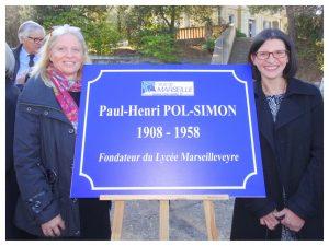 Inauguration du rond-point Pol SIMON Fondateur de la Cité Marseilleveyre